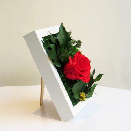 Tableaux Végétal Stabilisé Sweet Rose Création Originale de Déco Végétale